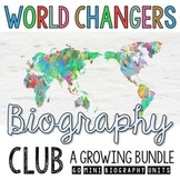 Biography Project Bundle with Biography Graphic Organizers and Activities