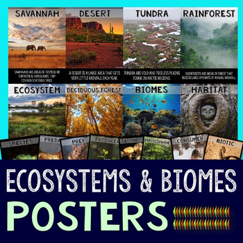 Biomes and Ecosystems Posters