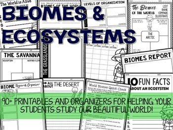 Biomes and Ecosystems Printables and Organizers