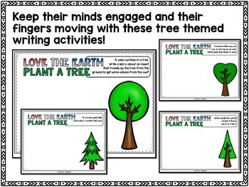 Earth Day Writing - Tree Theme Digital Writing Activity