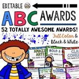 End of the Year Classroom Awards - Editable ABC Awards