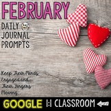 February Writing Prompts for Google Drive