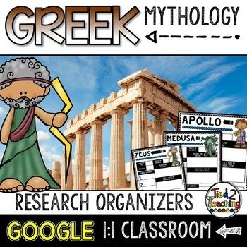 Greek Mythology Report: Google Classroom Activity