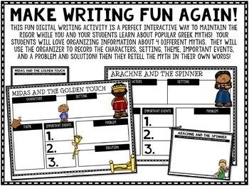 Greek Myths Writing Google Classroom Activity