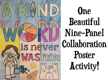 KINDNESS Quote Collaborative Poster - BEACH THEME