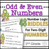Odd and Even Numbers Within 100 Riddle Activities