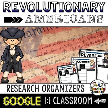 Revolutionary Americans Biography Report Google Classroom