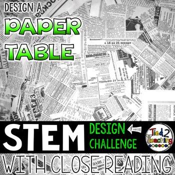 STEM Challenge - Design a Paper Table