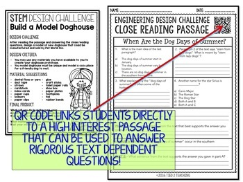STEM Challenge Doghouse Design Challenge Print AND Digitial