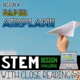 STEM Challenge - Paper Airplane Design Challenge
