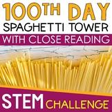 100th Day of School STEM Challenge - SPAGHETTI TOWER Design Challenge