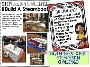 STEM Challenge Steamboat Design Challenge Print AND Digital