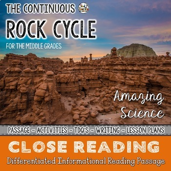 The Rock Cycle - Differentiated Close Reading