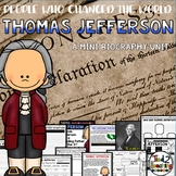 Thomas Jefferson Presidents Day Mini Biography Unit