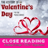 Valentine's Day History Close Reading Passage with TDQ's