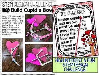 Valentines Day STEM Challenge - Cupid's Bow Design