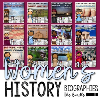 Women's History Month Biography Unit Bundle