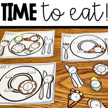 TIME to eat: Thanksgiving telling time activity and worksheets