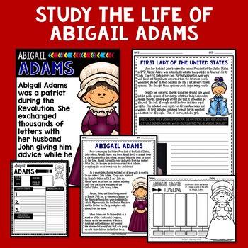Abigail Adams Mini Biography Unit