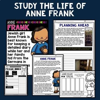 Anne Frank Mini Biography Unit