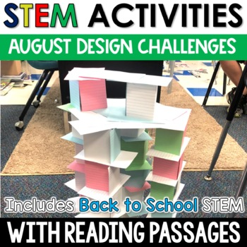 August STEM Challenges with Close Reading