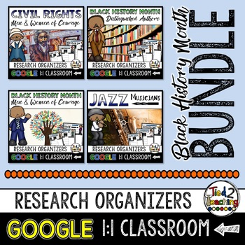 BLACK HISTORY Biography Report and Informational Writing BUNDLE GOOGLE CLASSROOM