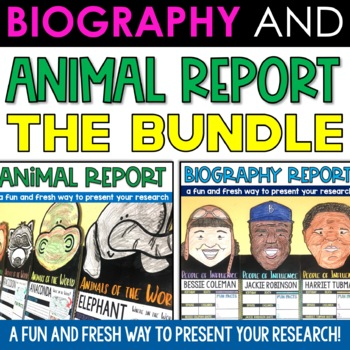 Biography AND Animal Report Pennant Banner Bundle