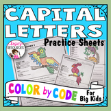 Color by Code Grammar - Capital Letters