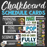 Chalkboard Classroom Decor - Schedule Cards