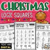 Christmas Math Logic Square Puzzles