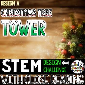 Christmas STEM Christmas Tree Tower Challenge