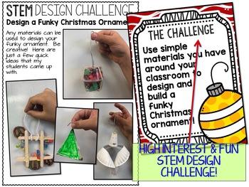 Christmas STEM Funky Christmas Ornament Challenge