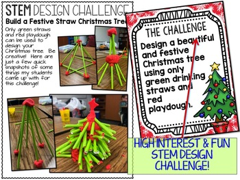 Christmas STEM Straw Christmas Tree Challenge