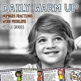 Daily Math Warm-Ups FRACTION WORD PROBLEMS