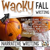 Fall Narrative Writing Task Cards & Writing Activities