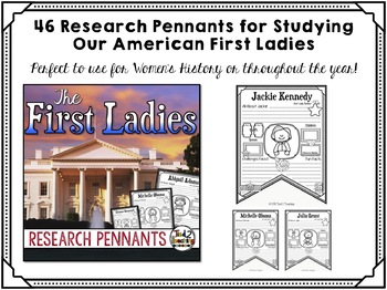 First Ladies Biography Research Pennants
