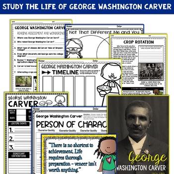 George Washington Carver Mini Biography Unit
