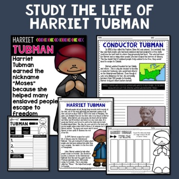 Harriet Tubman Mini Biography Unit