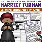 Harriet Tubman Mini Biography Unit