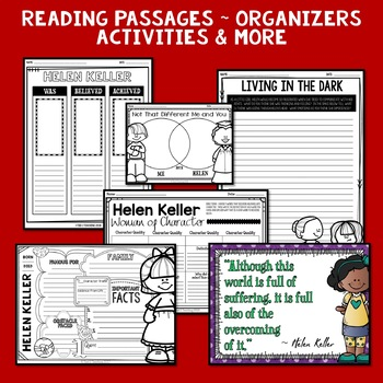Helen Keller Mini Biography Unit