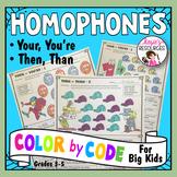 Color by Code Grammar - Homophones Set 2
