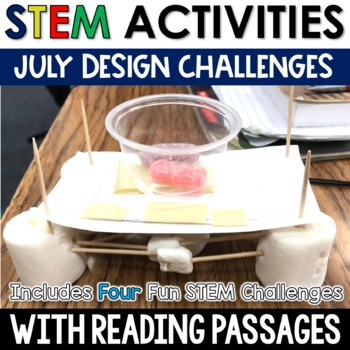 July STEM Challenges with Close Reading
