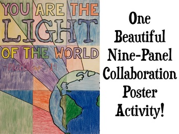 LIGHT Quote Collaborative Poster GREAT END OF YEAR ACTIVITY