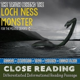 LOCH NESS MONSTER Differentiated Close Reading Passage