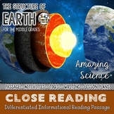 Layers of the Earth - Differentiated Close Reading