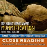 MUMMIES a Halloween Close Reading Passage