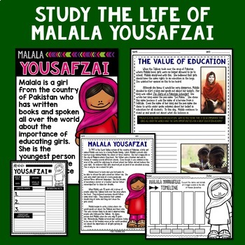 Malala Yousafzai Mini Biography Unit
