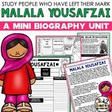 Malala Yousafzai Mini Biography Unit