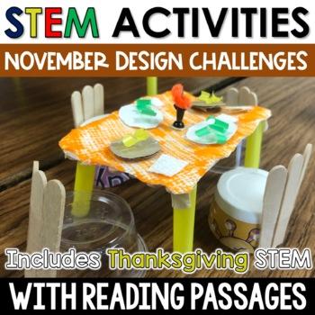 Thanksgiving STEM November STEM Challenges with Close Reading