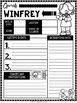 Oprah Winfrey Mini Biography Unit